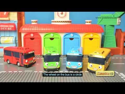 Learn colors with Tayo buses karaoke | Best learning video | Tayo wheels on the bus | Kiddiestv