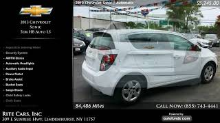 Used 2013 Chevrolet Sonic   Rite Cars, Inc, Lindenhurst, NY