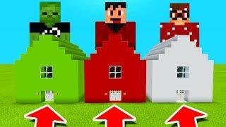 Minecraft PE : DO NOT CHOOSE THE WRONG HOUSE! (AA12, RageElixir & BrandonCrafter)