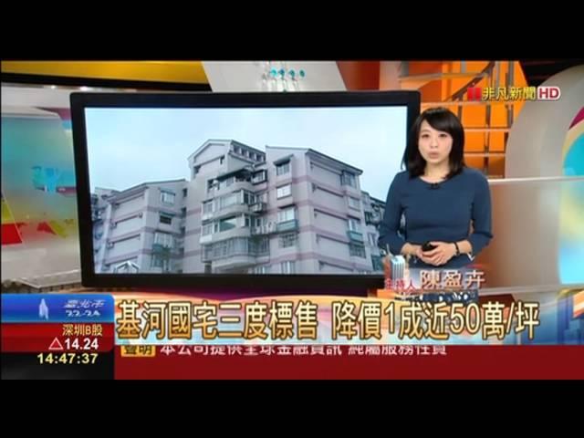 【盈盈看厝】基河國宅三度標售 降價1成近50萬/坪