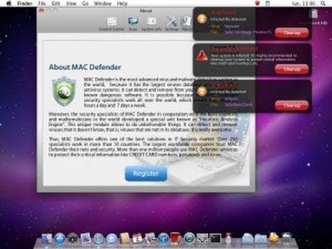 How to remove Mac Defender Virus