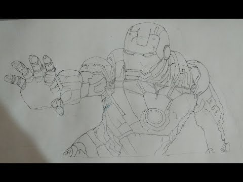 Drawing Of Iron Man | The Superhero |