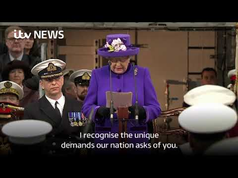 HMS Queen Elizabeth commissioned, report (II)