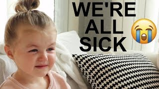 DAY IN THE LIFE WITH 2 SICK BABIES :( | Infant + Toddler | Tara Henderson