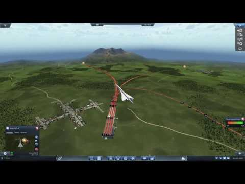 Transport Fever Extreme long Megalomaniac 1:5 map with Concorde |