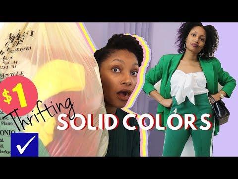 Amazing $1 Solid Colors Spring Thrift Haul   BlueprintDIY