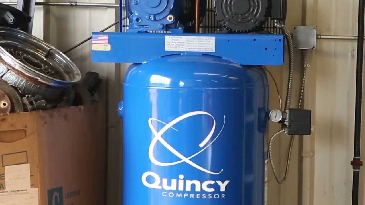 medium resolution of quincy qt 5 reciprocating air compressor by quincy compressor youtube pressure switch wiring wiring diagram for quincy air compressor