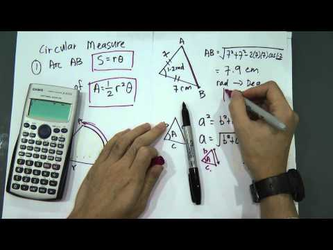 SPM - Add Maths - Form 4 - Circle Measure (Four Useful Formula)