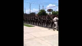USMC Recruits 3rd BN Parris Island 09-01-12 Marching