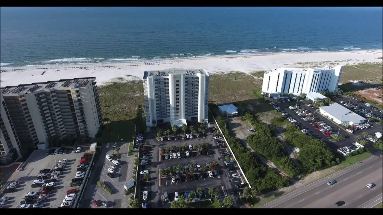 Tidewater Condo Aerial Video Orange Beach Al