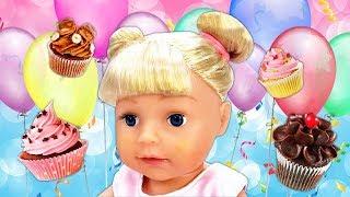Фото Беби Бон Эмили выросла День рождение куклы Baby Born - Игры с Машей Капуки