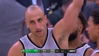 Spurs' Manu Ginóbili Hits Game-Winning 3 to Lift Spurs over Celtics