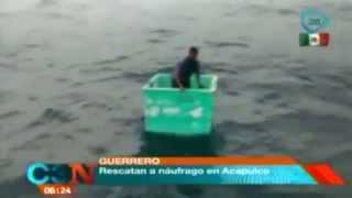 VIDEO: Pescadores rescatan a náufrago en Acapulco