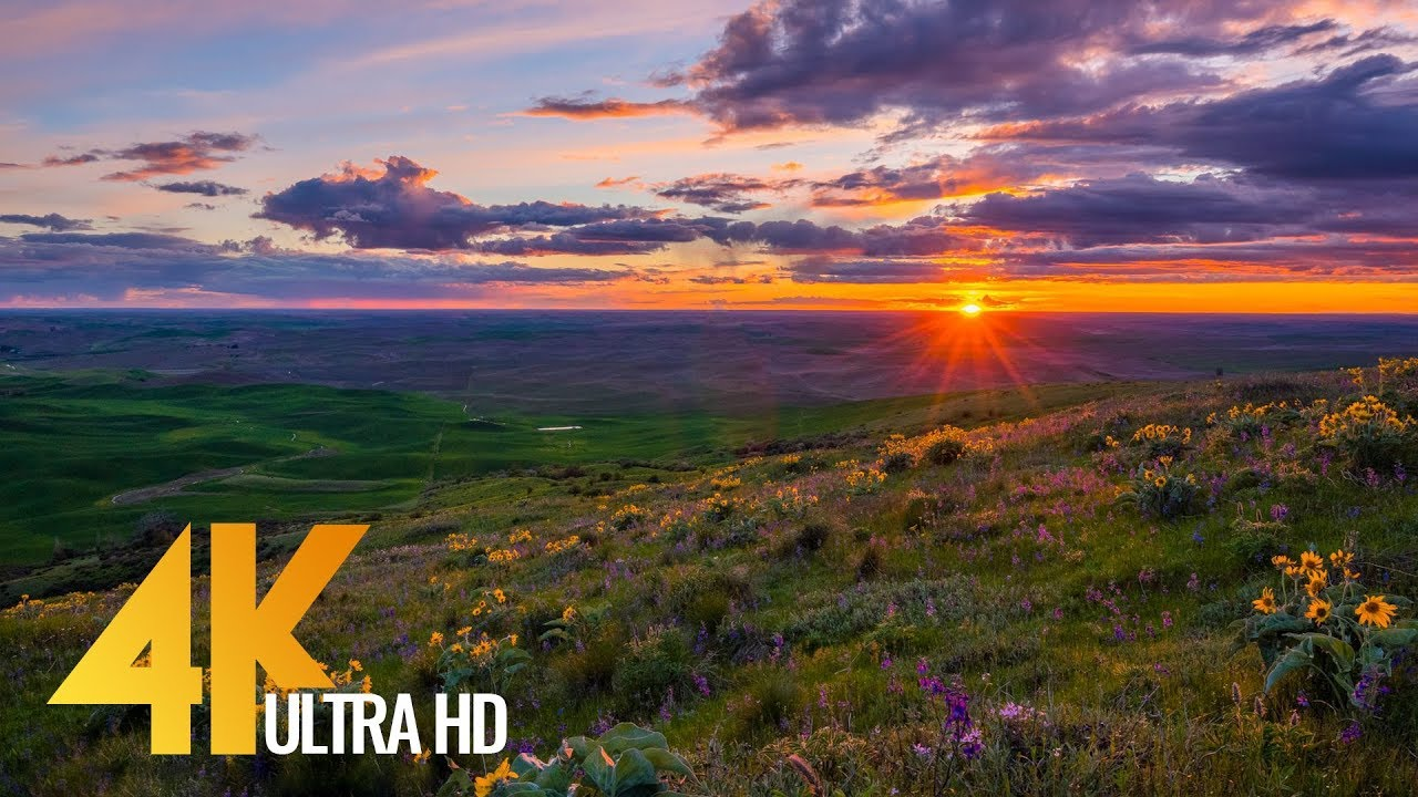 4k sunset at steptoe bute state park uhd relax video 1 hr nature sounds youtube - 4k wallpaper download ...