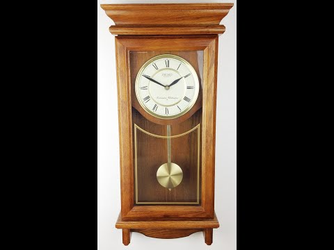 Clock SEIKO Whittington Westminster Chime Battery Operated Pendulum Wall Clock - BidAway