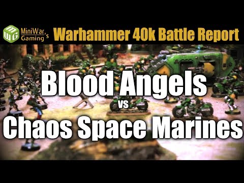 Blood Angels vs Chaos Space Marines Warhammer 40k Battle Report Ep 119
