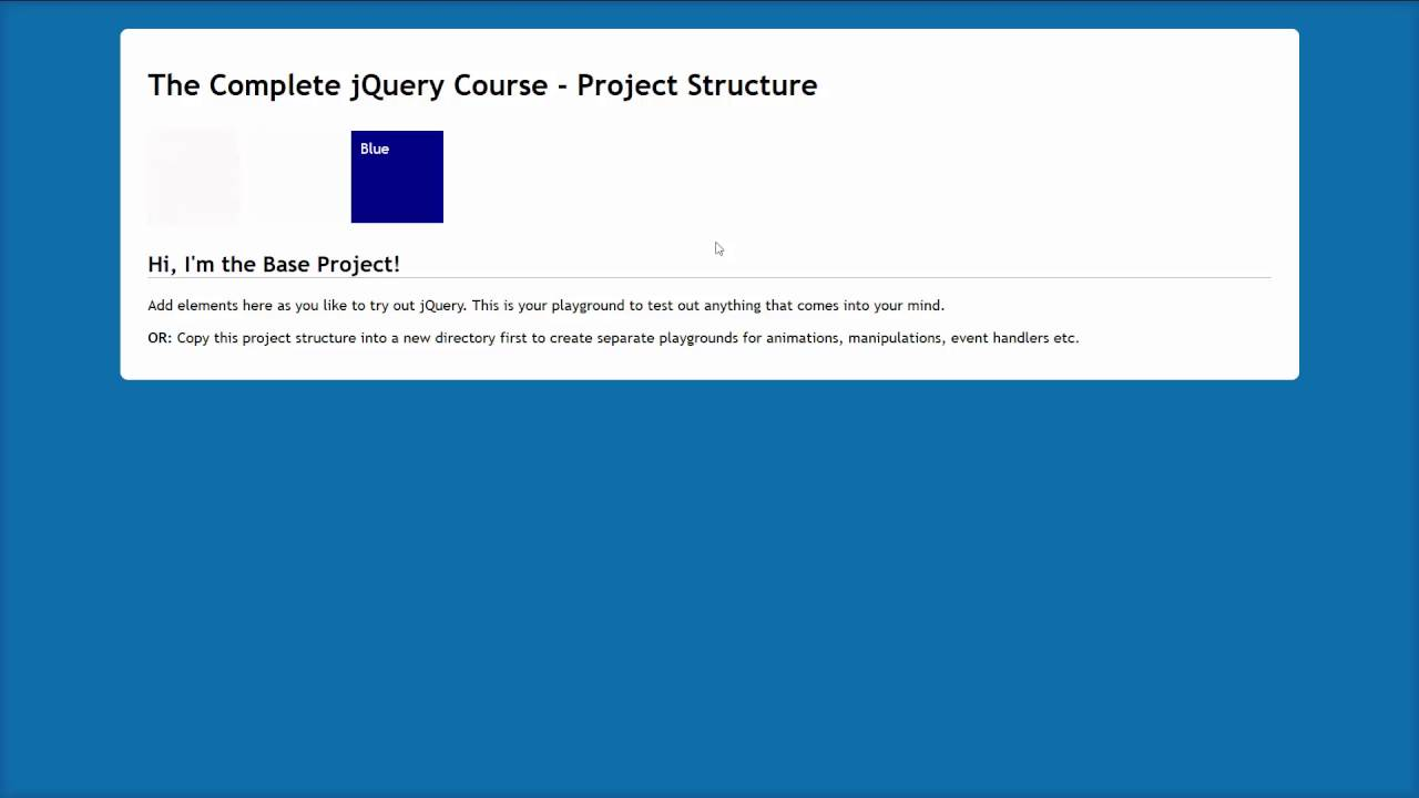 jQuery Tutorial for Beginners #5: Fading Animations Using fadeIn, fadeOut  and fadeTo