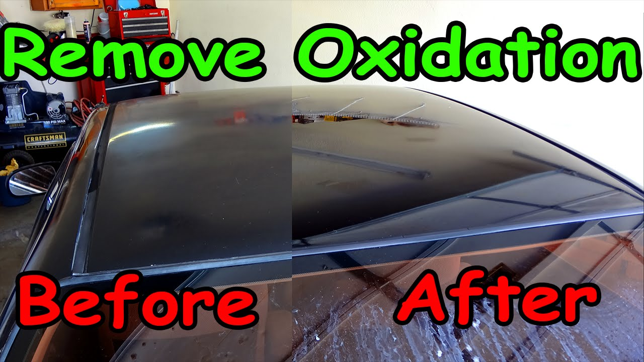 How To Remove Oxidation From Car Paint Youtube