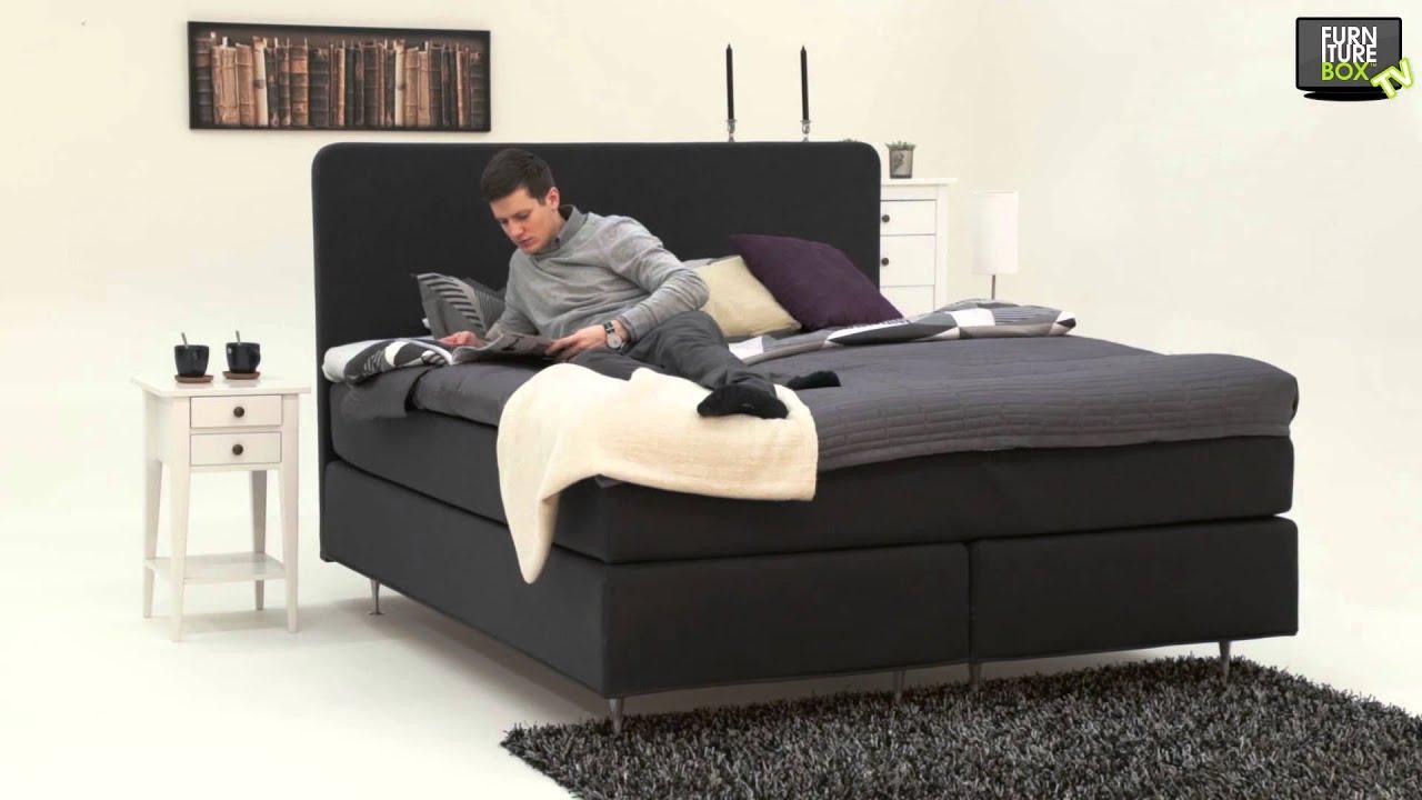 Royal kontinentalsäng mörkgrå furniturebox   youtube