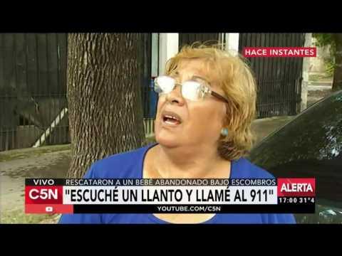C5N - La Tarde: La mujer que rescató a la beba abandonada bajo los escombros