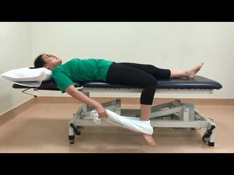 NUH Physiotherapy Quadriceps stretch bed exercise