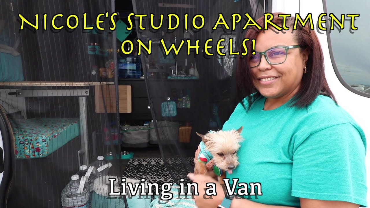 Nicole's Studio Apartment on Wheels!!  Living in a Van