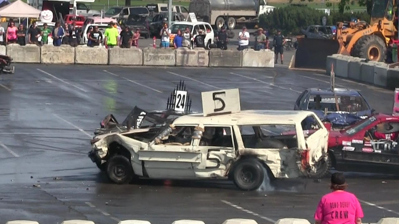The Best Big Cars Demo Derby,very hard hits and insane drivers,crash'em and smash'em