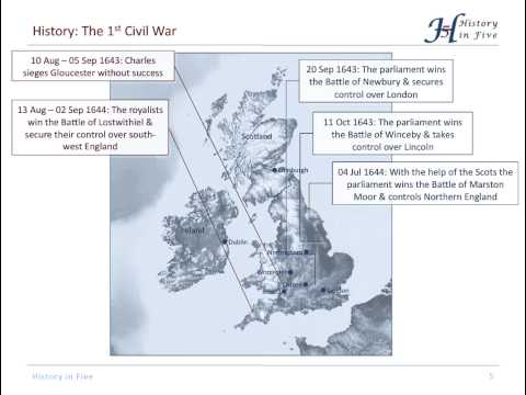 The English Civil War (1642-1651)