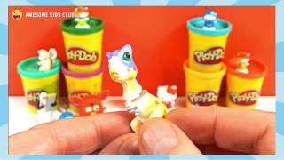 Play Doh Surprise Egg with Toys | Blue Calimero Huge