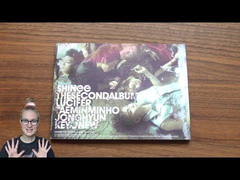 Unboxing SHINee 샤이니 2nd Korean Studio Album Lucifer (Edition A)