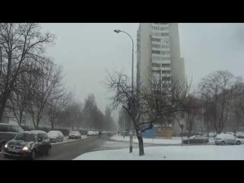 snow in Zagreb. Croatia, 22nd. february 2018.