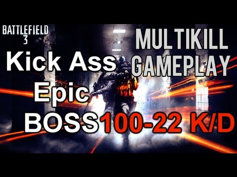 Battlefield 3 Online Gameplay - Best Epic Kick Ass Round/Game In Battlefield 3 Ever?! 100-20K/D