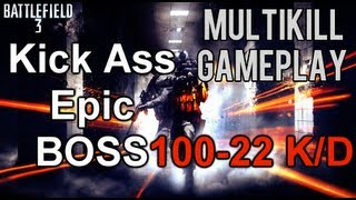 Battlefield 3 Online Gameplay - Best Epic Kick Ass Round/Game In Battlefield 3 Ever?! 100-20K/D