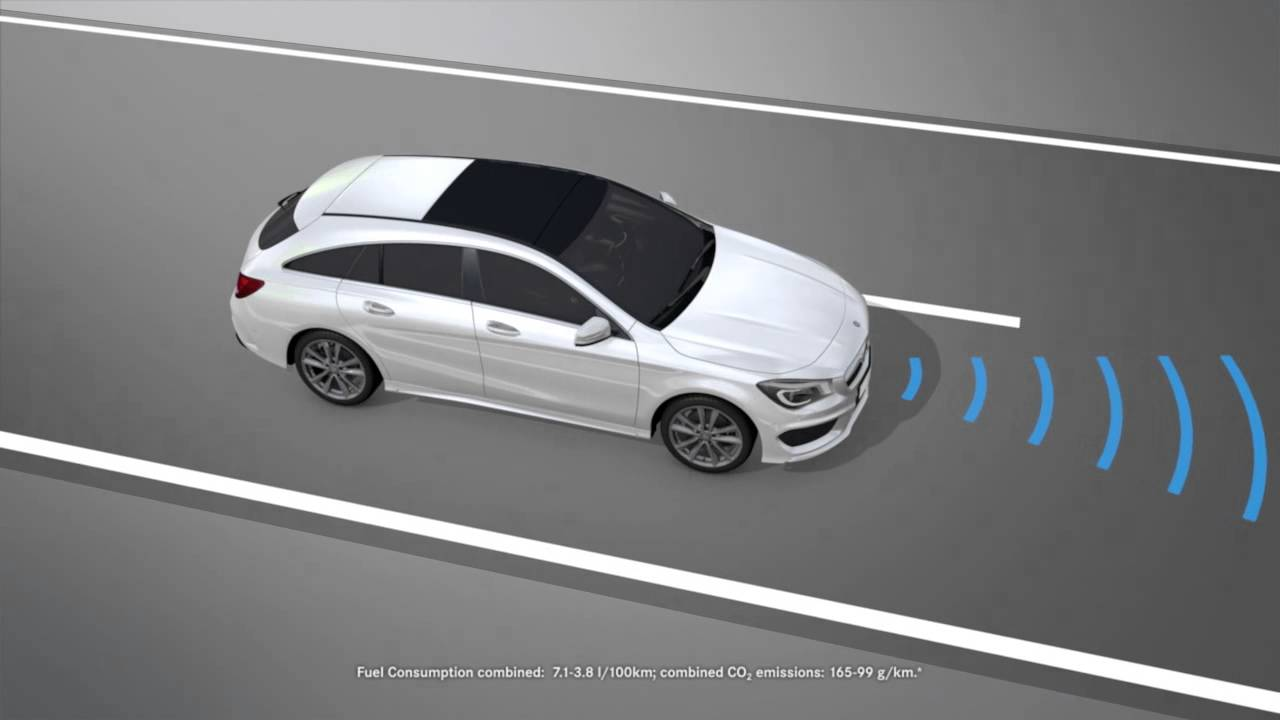 CLA Shooting Brake: COLLISION PREVENTION ASSIST PLUS - Mercedes-Benz original