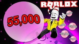 55,000 Bubble in Roblox Bubble Gum Simulator