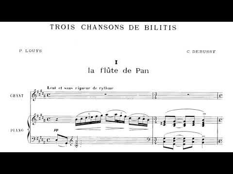 Debussy - 3 Chansons de Bilitis (1897)