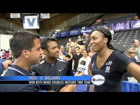 Interview - Leander Paes & Venus Williams (7/6/11)