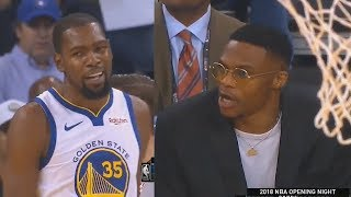Kevin Durant Exchanges Words With Russell Westbrook After Stare Down! Warriors vs Thunder thumbnail