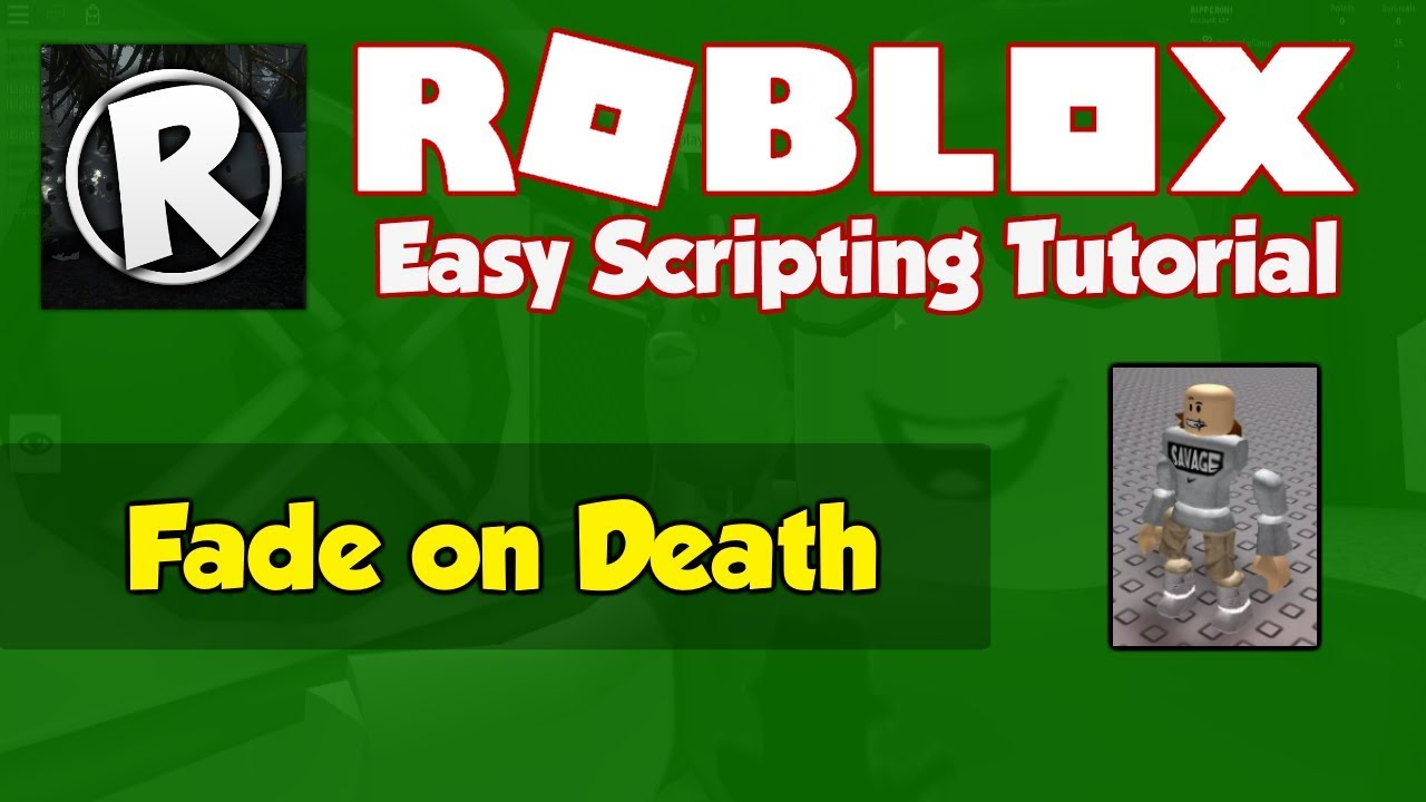 Roblox | How to make a Fade on Death Script | 2019 [FE]