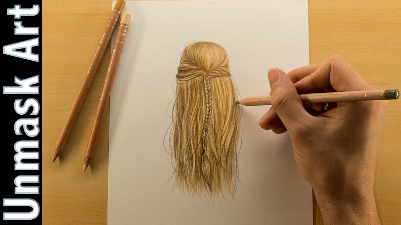 How To Color Blonde Hair Colored Pencil Drawing Time