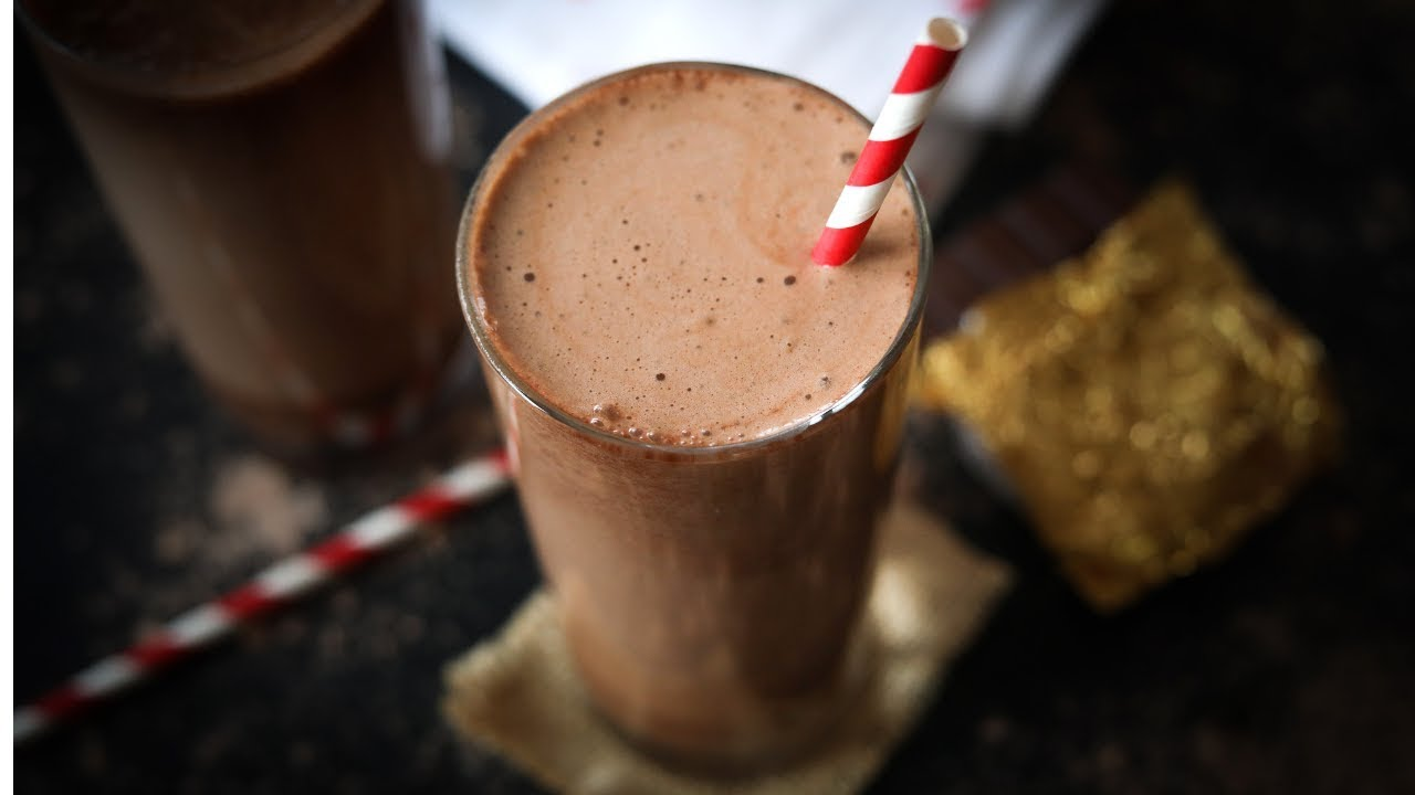 Protein shake cokelat