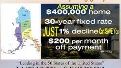Alaska FREE report on Real Estate and Home Mortgage Loan rate for purchase and refinance