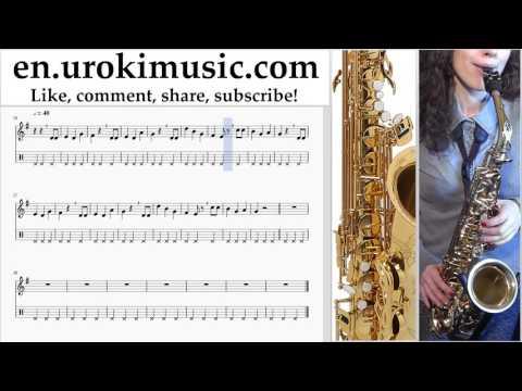Saxophone lessons (Alto) Happy - Birthday Sheet Music Tutorial Part#2 um-b352