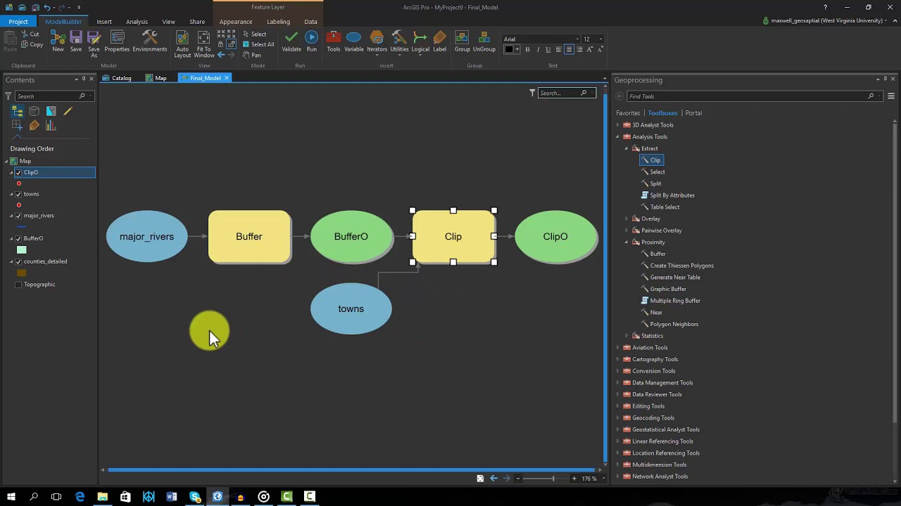 Select layer by location model builder