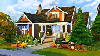 'Autumnal Family Bungalow' 🍁🍂 || The Sims 4 Speed Build (No CC)