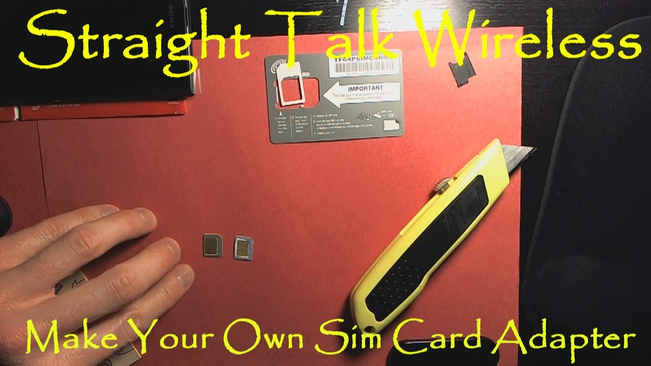 make your own sim card adapter to use multi phones with straight talk wireless sim cards youtube. Black Bedroom Furniture Sets. Home Design Ideas
