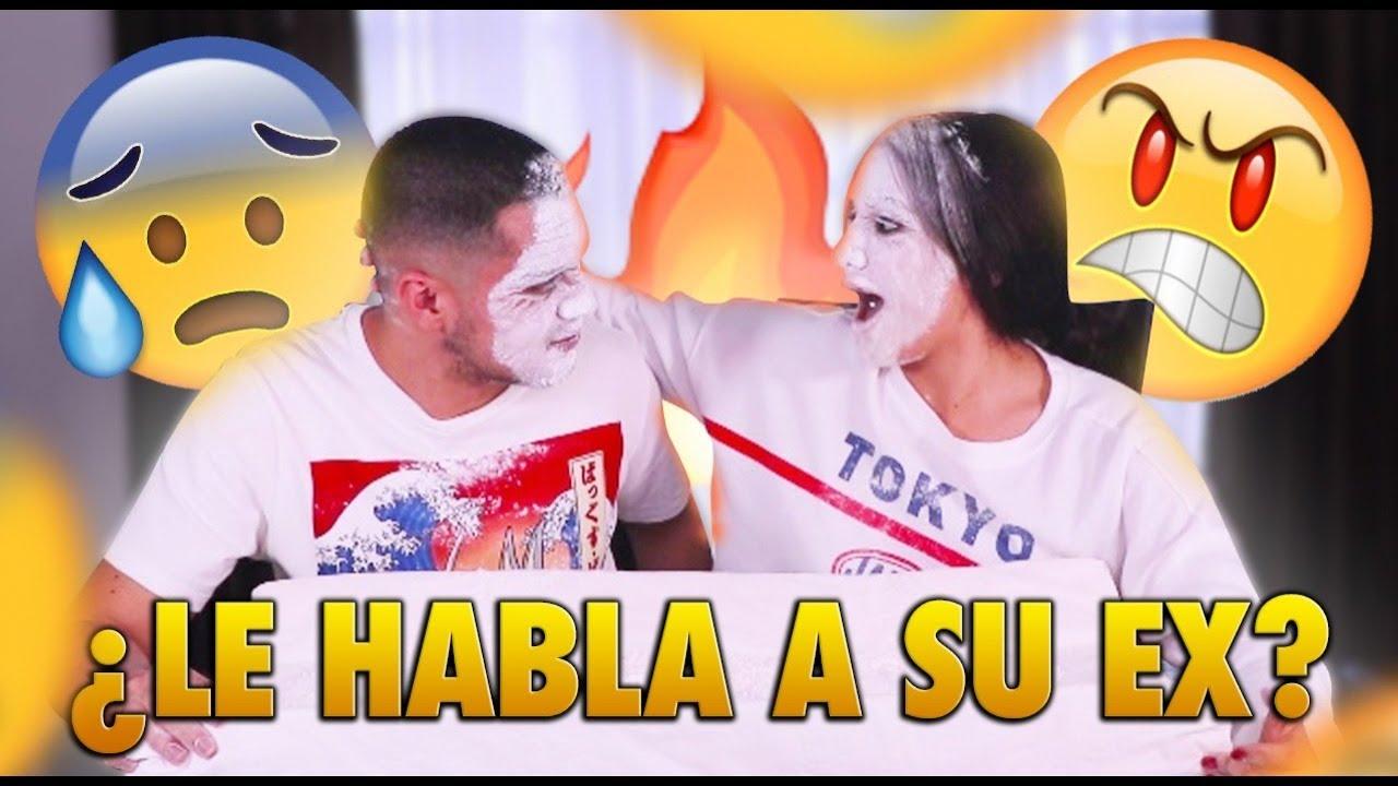 HABLA CON SU EX 😡 ¿QUIEN ES MAS PROBABLE? CON HARINA / Samantha Espinosa