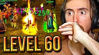 Asmongold Hits LEVEL 60 & Equips All SHAMELESS EPIC GEAR On His Warlock - Classic WoW