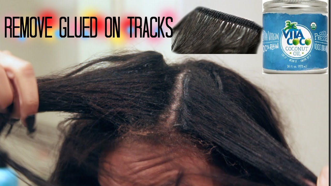 How To Remove Hair Glued Tracksangel Grace Hair Youtube