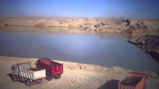 Watch a video exclusive eliminate road East of the Suez Canal to connect the new drilling sites